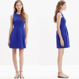 Madewell Abroad Blue Fit and Flare Dress